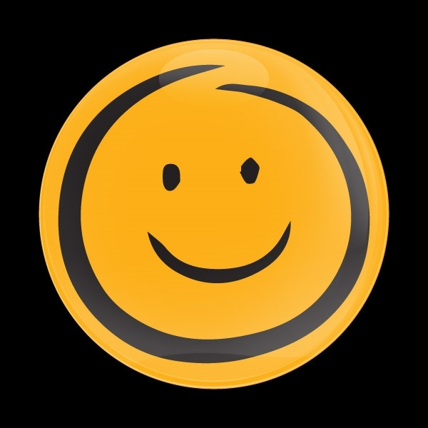 ゴーバッジ(ドーム)(CD1089 - EMOJI SMILE HAND DRAWING) - 画像1