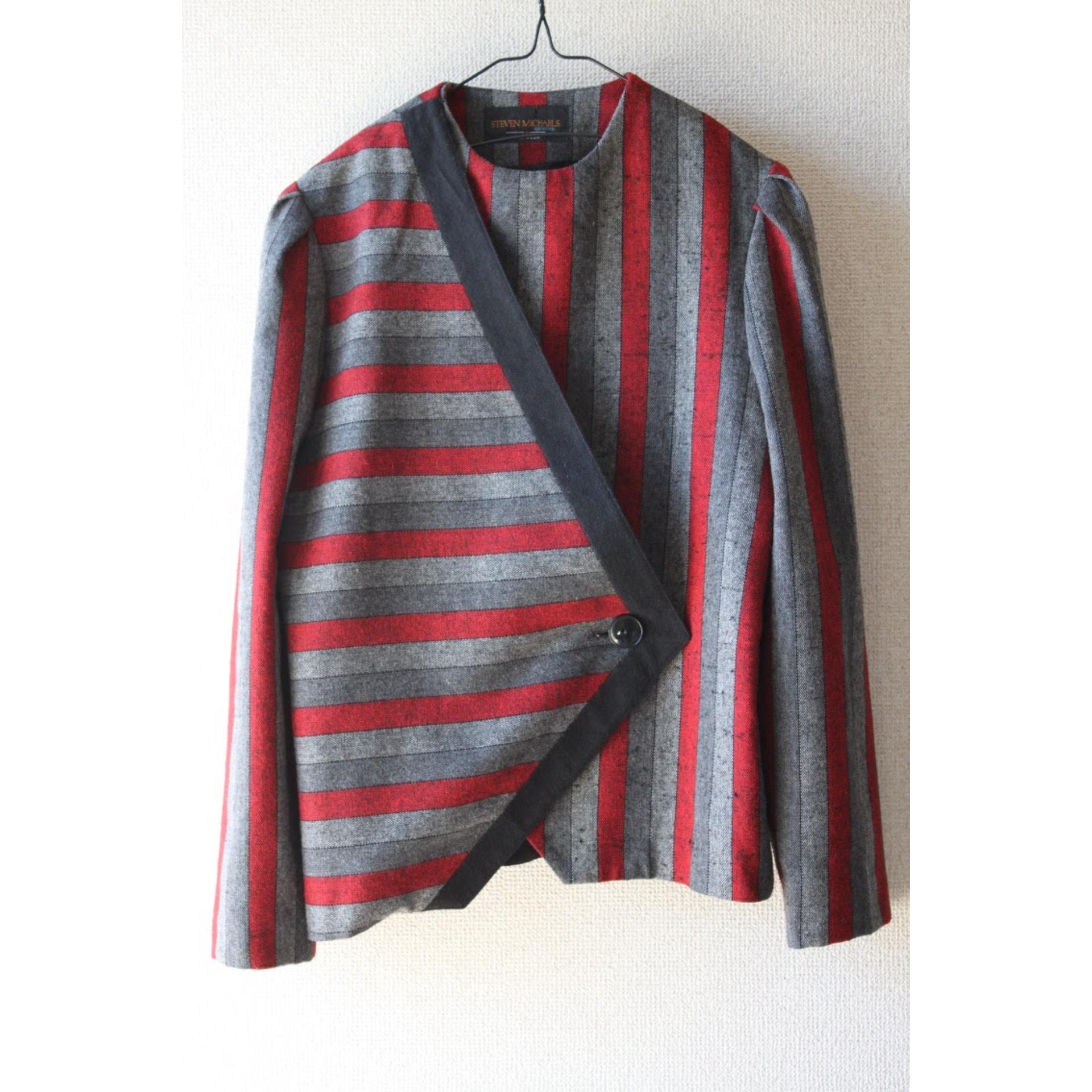 Vintage asymmetry jacket