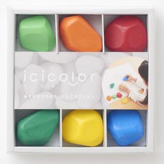 クレヨン 6色セット|icicolor イシコロール