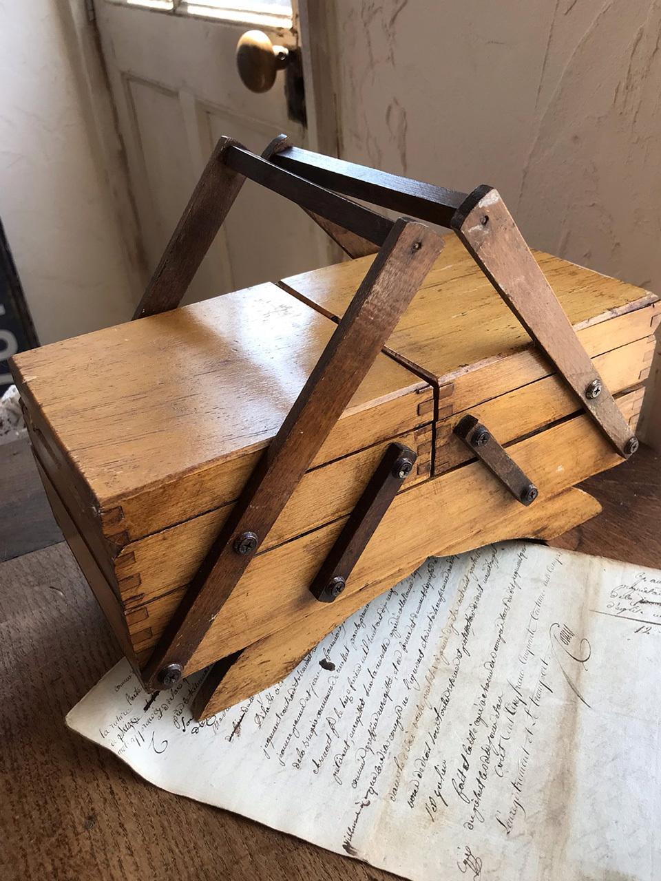 ミニソーイングボックス 手芸箱