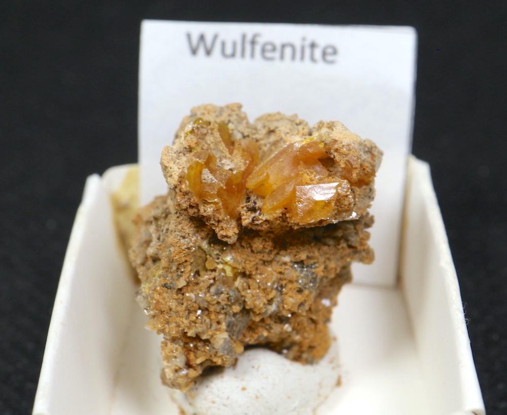 アリゾナ産 モリブデン鉛鉱  Wulfenite 7g WF014 天然石 鉱物 標本 原石