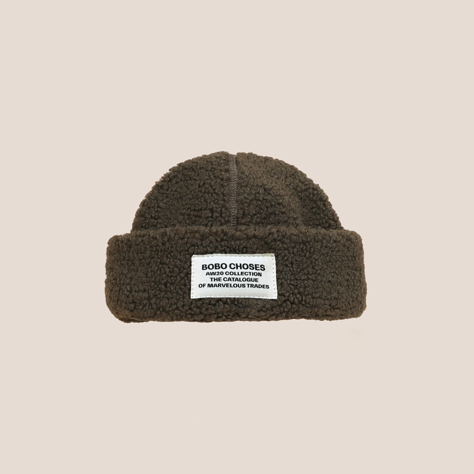 《BOBO CHOSES 2020AW》Patch Sheepskin Hat / kids