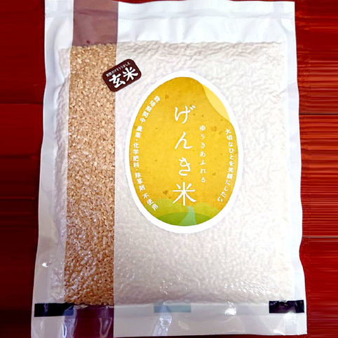 有機栽培・無農薬・富山県産コシヒカリ 玄米900g 真空パック