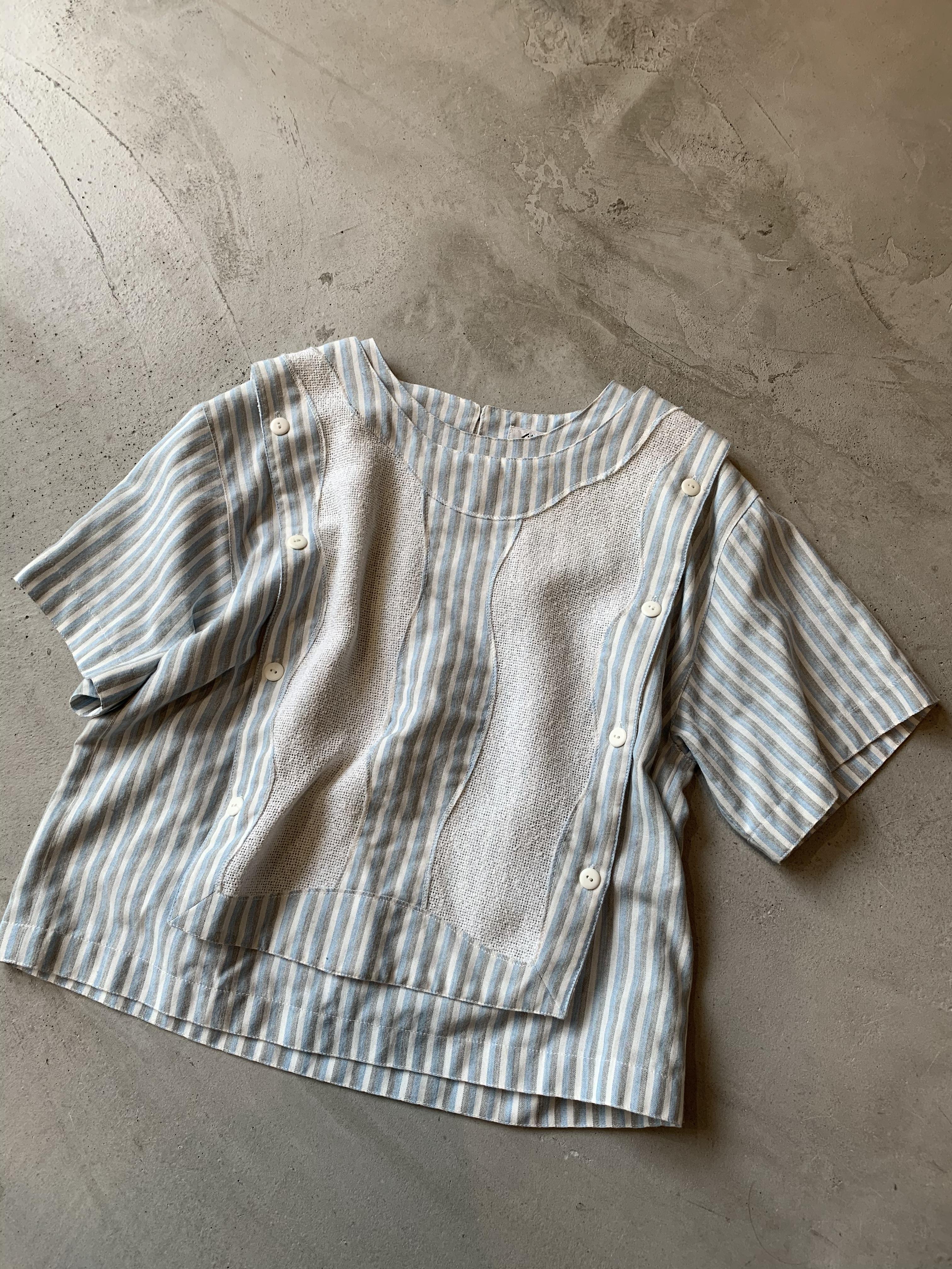 vintage strip blouse