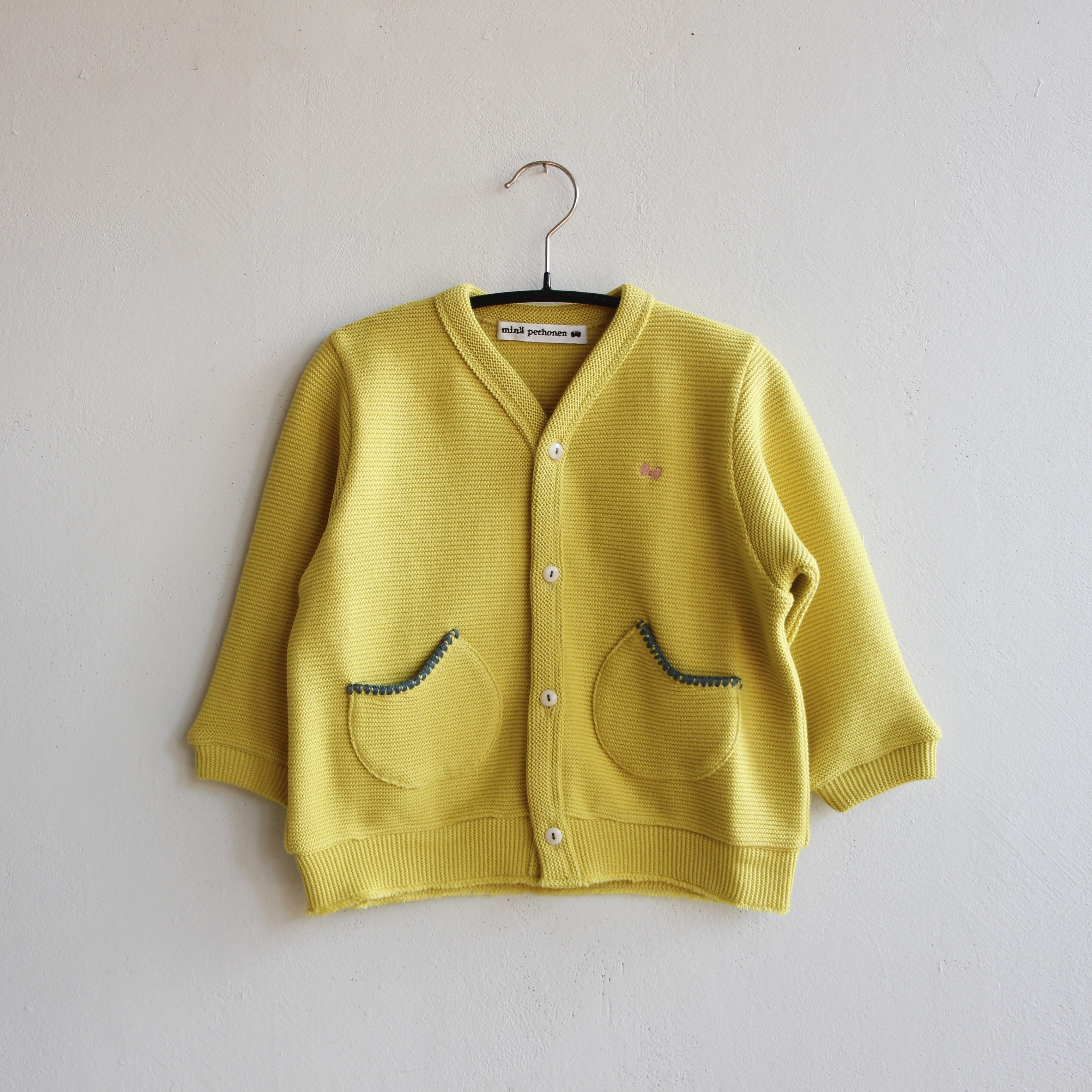 《mina perhonen 2020AW》makea カーディガン / yellow / 90cm