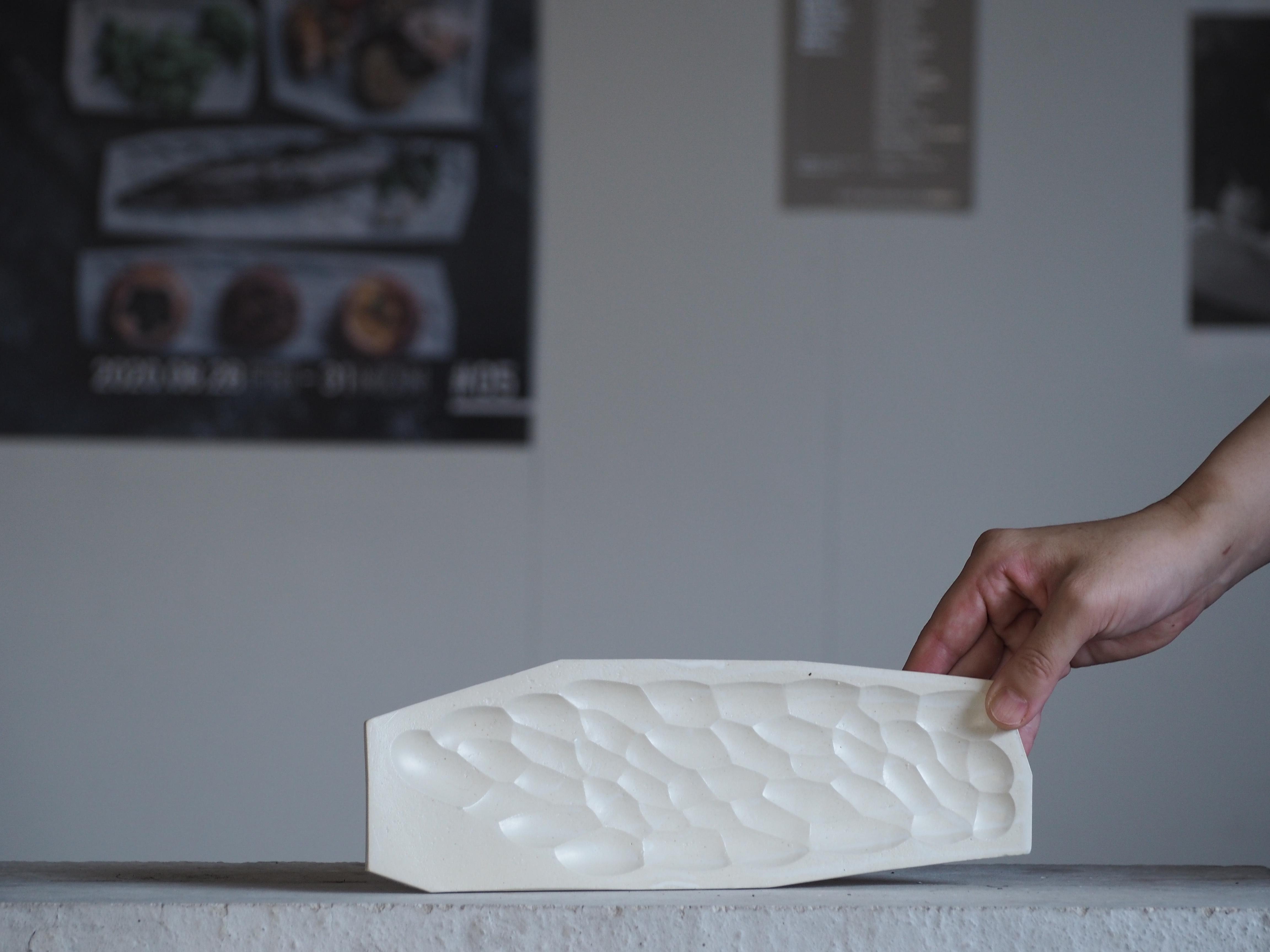 板皿 / マットホワイト(釉) / S / 長型 No,83-21