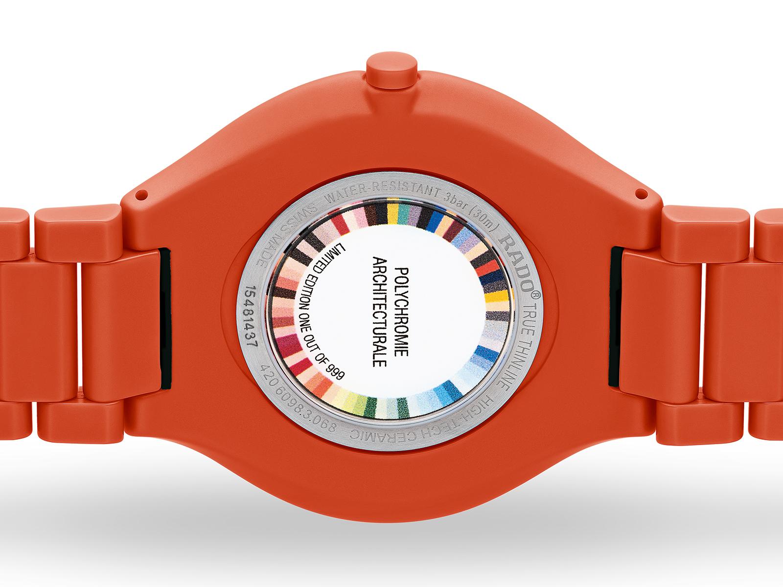 【RADO ラドー】True Thinline Les Couleurs™ Le Corbusier  Powerful orange 4320S シンライン ル・コルビュジエ(オレンジ)/正規輸入品