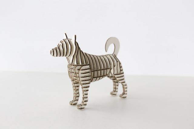 FLATS立体型パズル 芝犬/shiba130 白