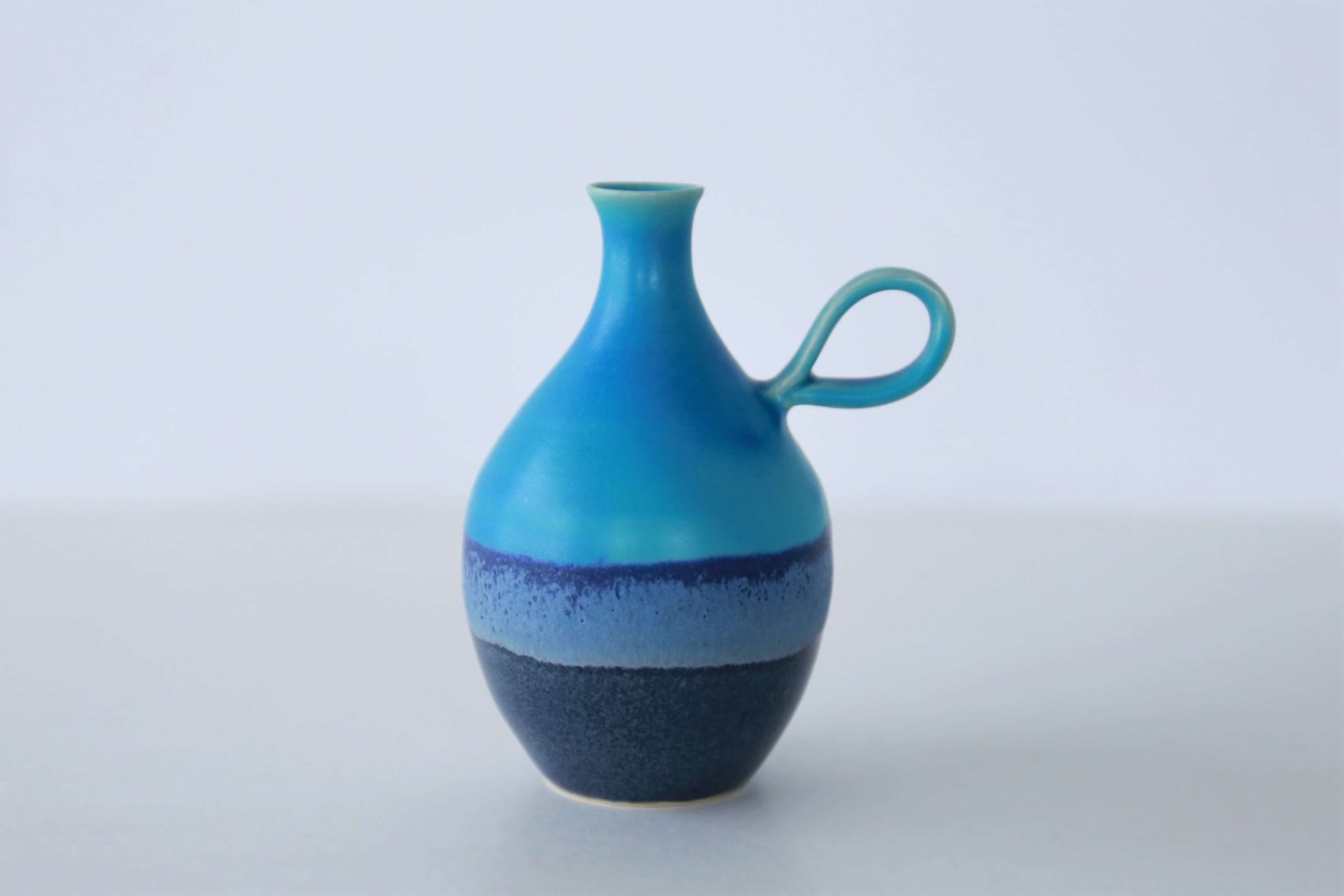 wakako ceramics /坂本和歌子 うみいろ いちりんざし(もち手つき)