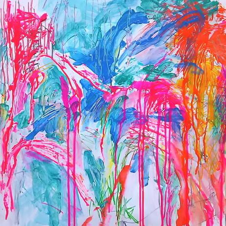 絵画 インテリア アートパネル 雑貨 壁掛け 置物 おしゃれ 抽象画 現代アート ロココロ 画家 : tamajapan 作品 : t-02