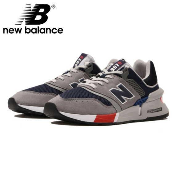 ニューバランス 997 スニーカー メンズ MS997 グレー ネイビー 新作 NEW BALANCE MS997LOQ GRAY/NAVY