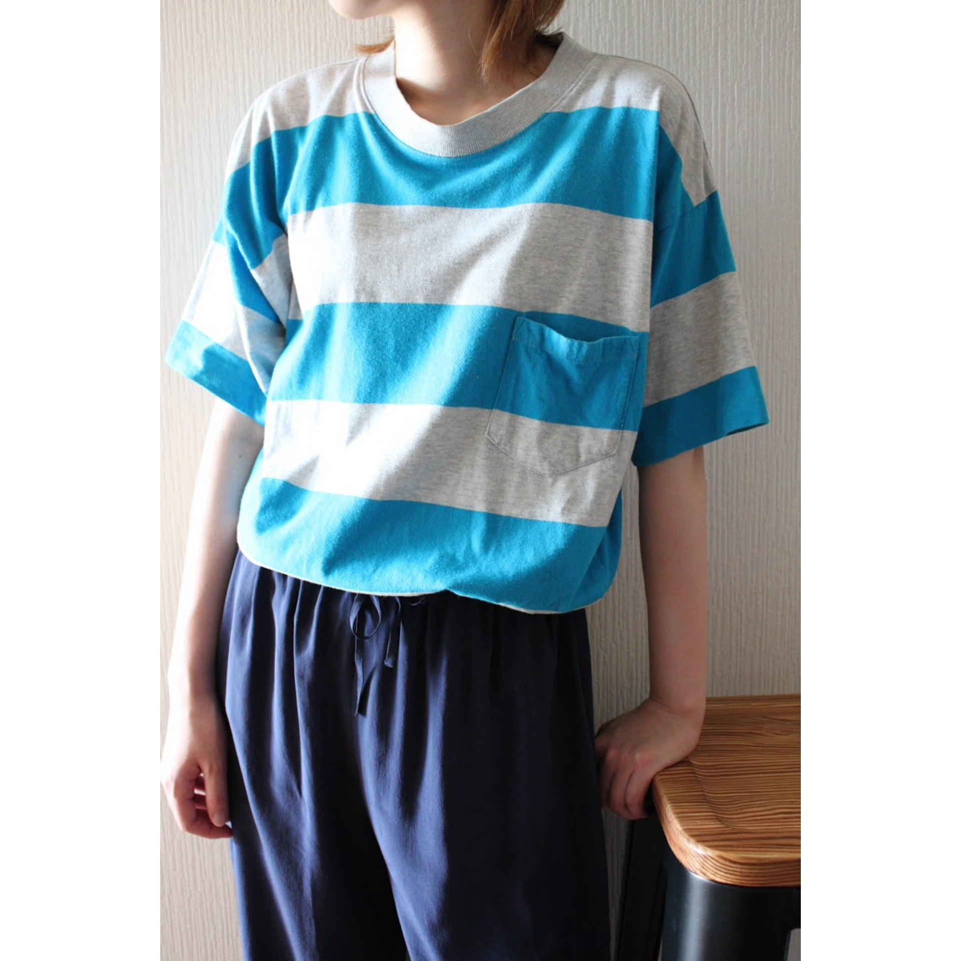 Vintage border pocket t shirt