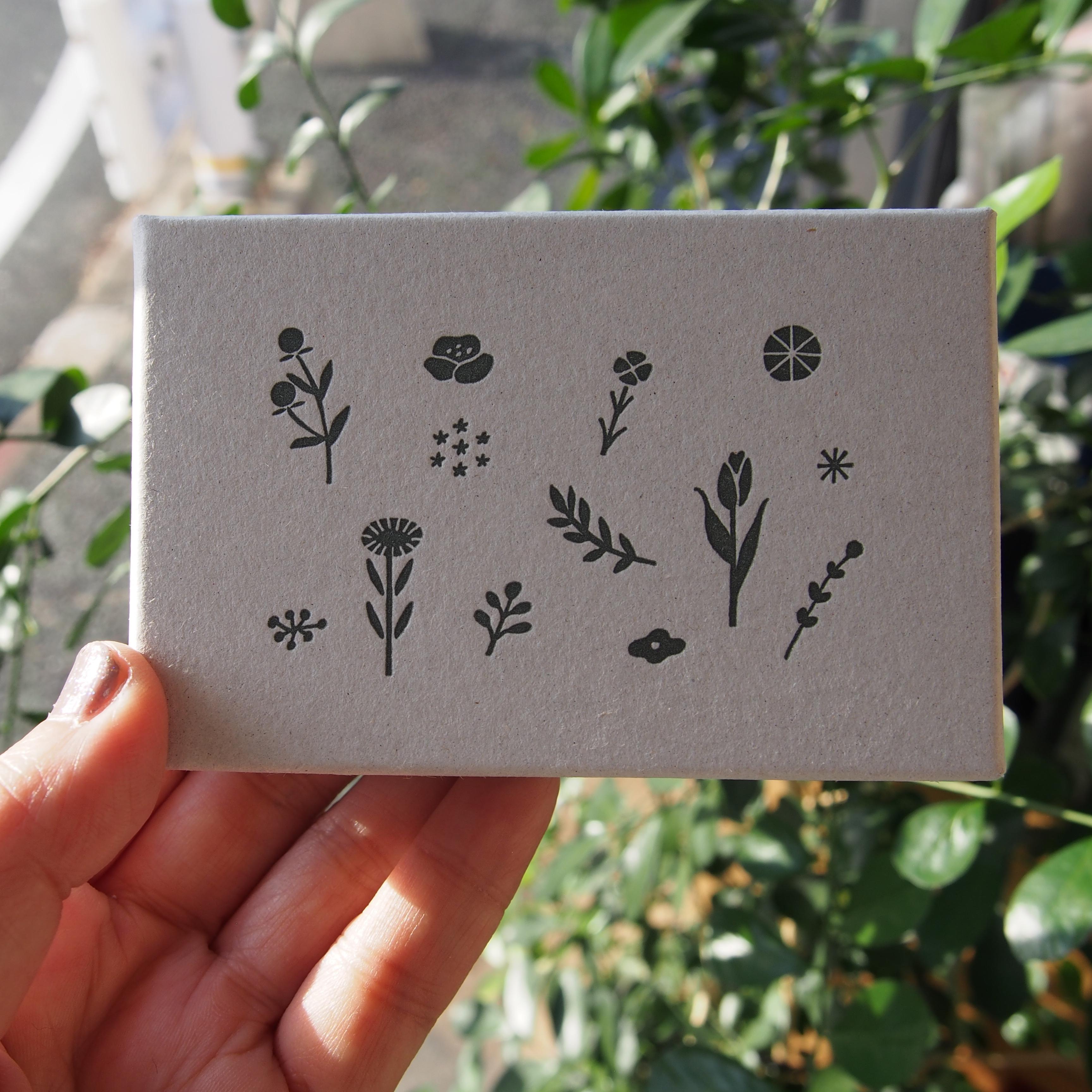 自在ハンコ 図案セット 草花