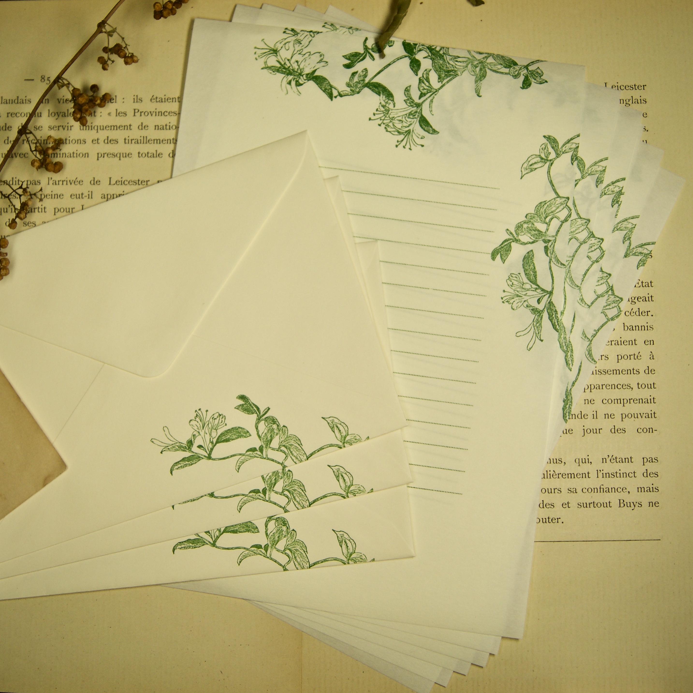 【レターセット】 スイカズラ / 便せん6枚+封筒3枚