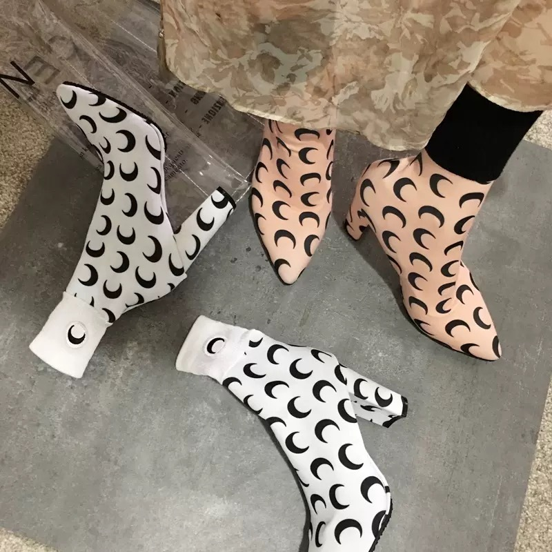moon pattern boots