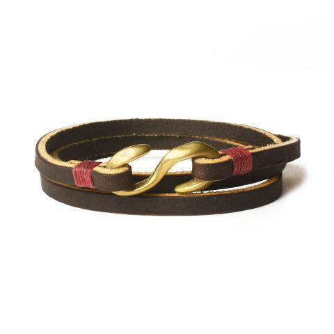Button Works(ボタンワークス) Glove Lacer Bracelet (グローブ レザー ブレスレット) DarkBrown(ダークブラウン)