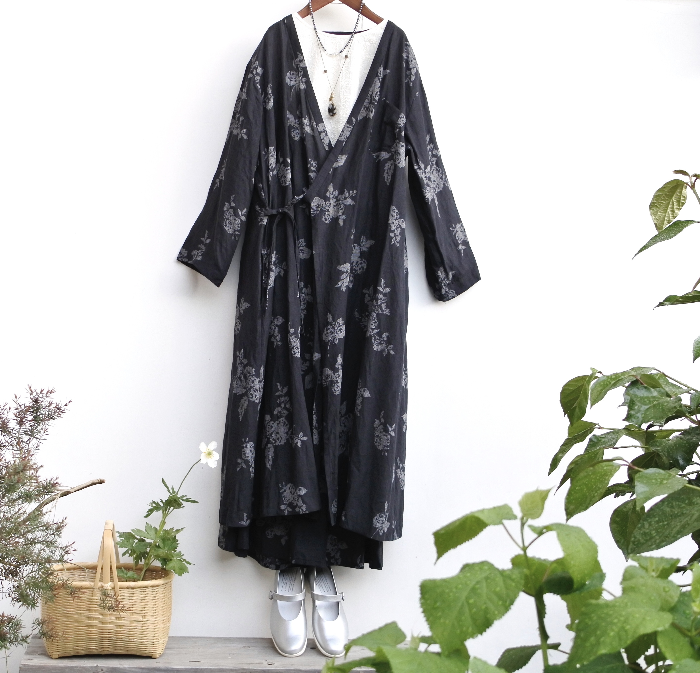 the last flower of the afternoon/ 咲き添ふ BACK PANEL GATHER SKIRT