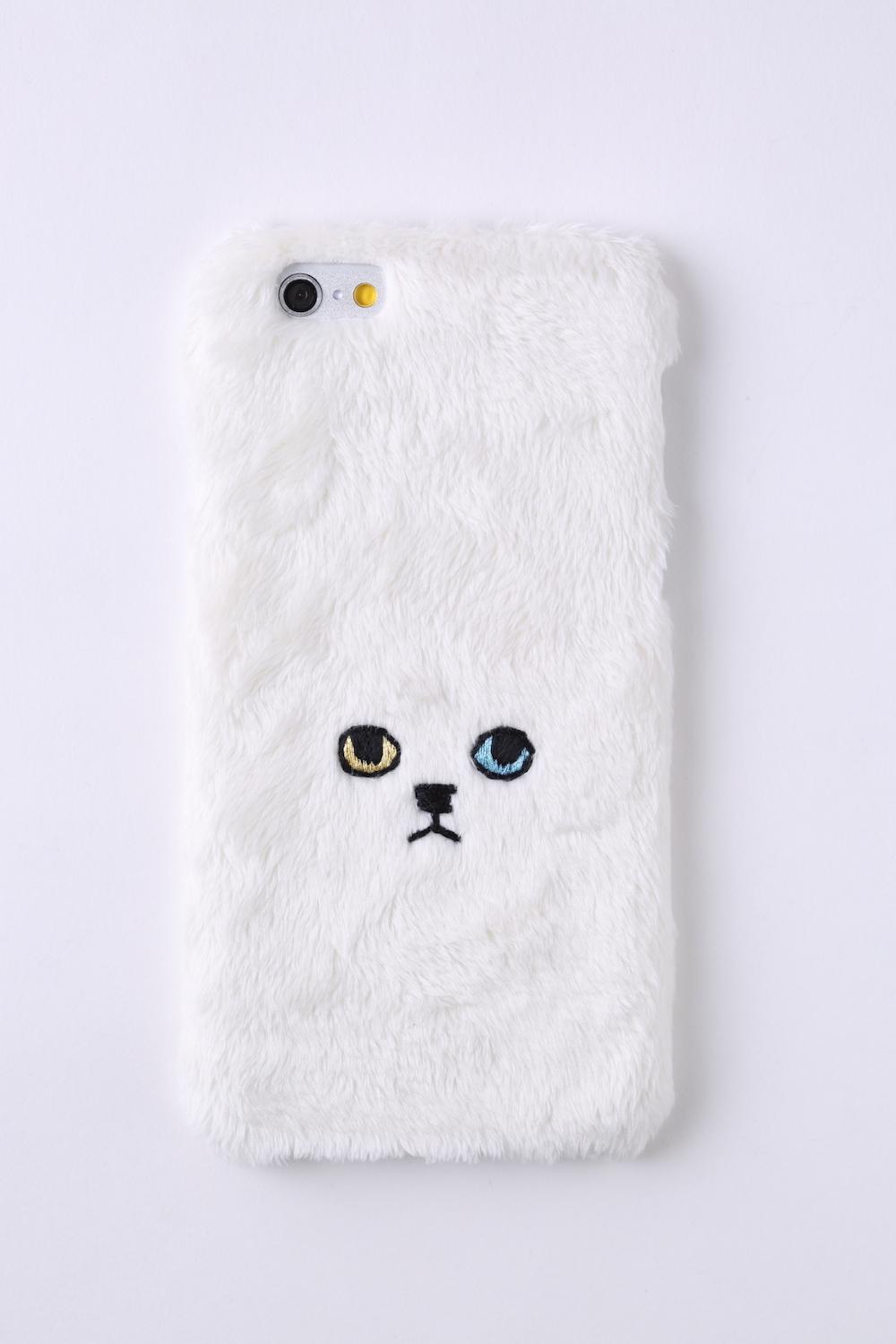 【iPhone6/6S専用】ネコiPhone6/6sハードケース【ホワイト】