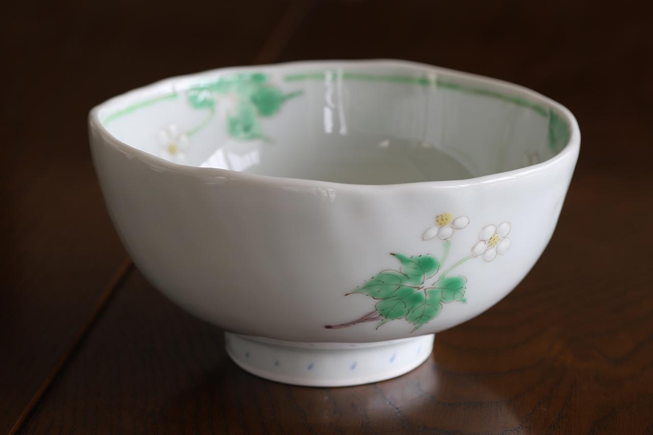 藍水 ハクサンイチゲ ミニどんぶり うつわ藍水(波佐見焼)