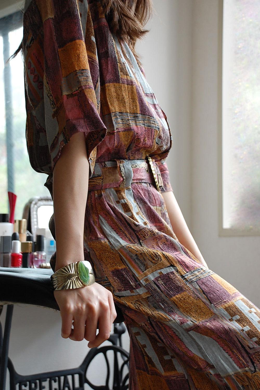 80's half length sleeve onepiece