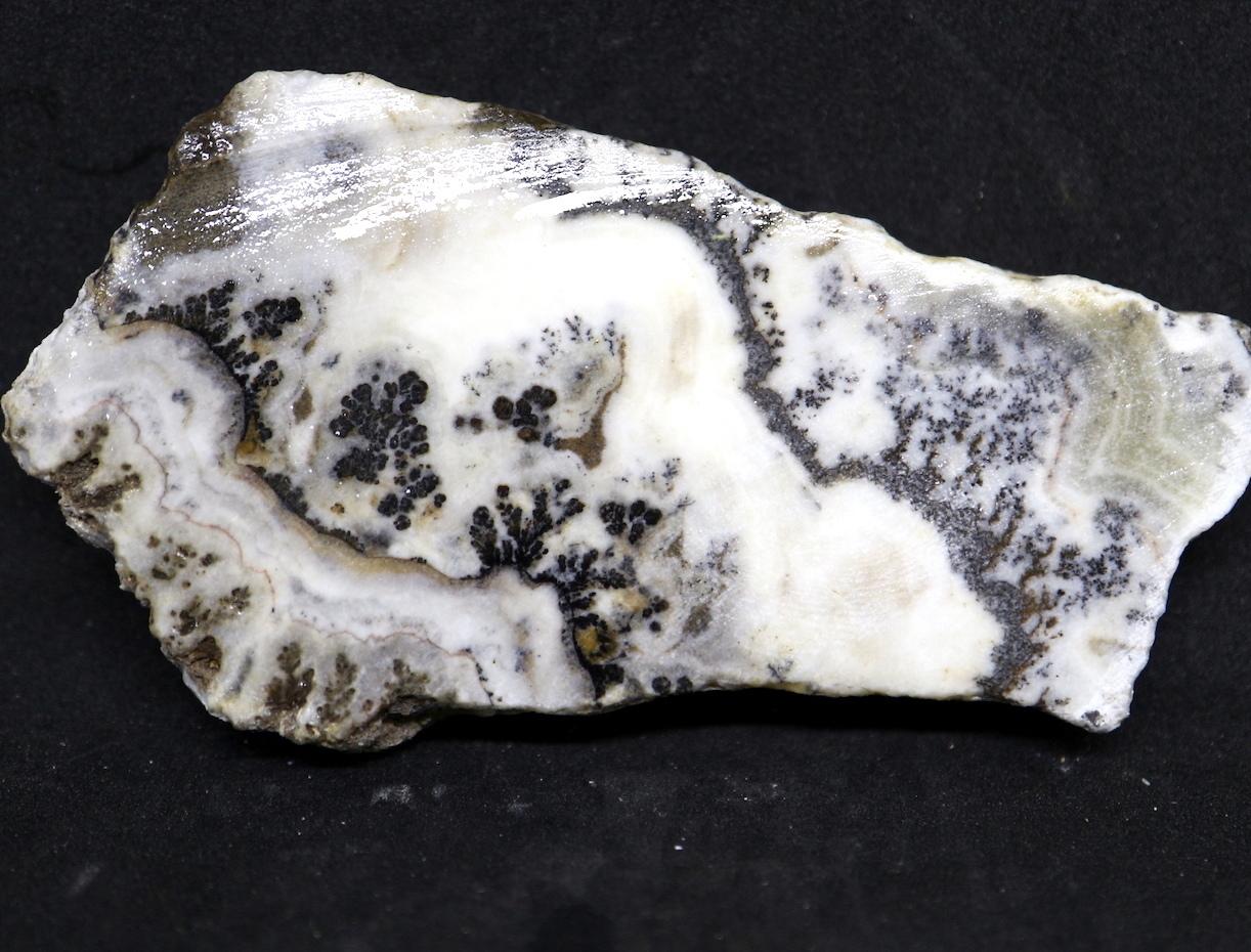 カリフォルニア産 シルバーレースオニキス 62,9g 原石 カボション SLO005
