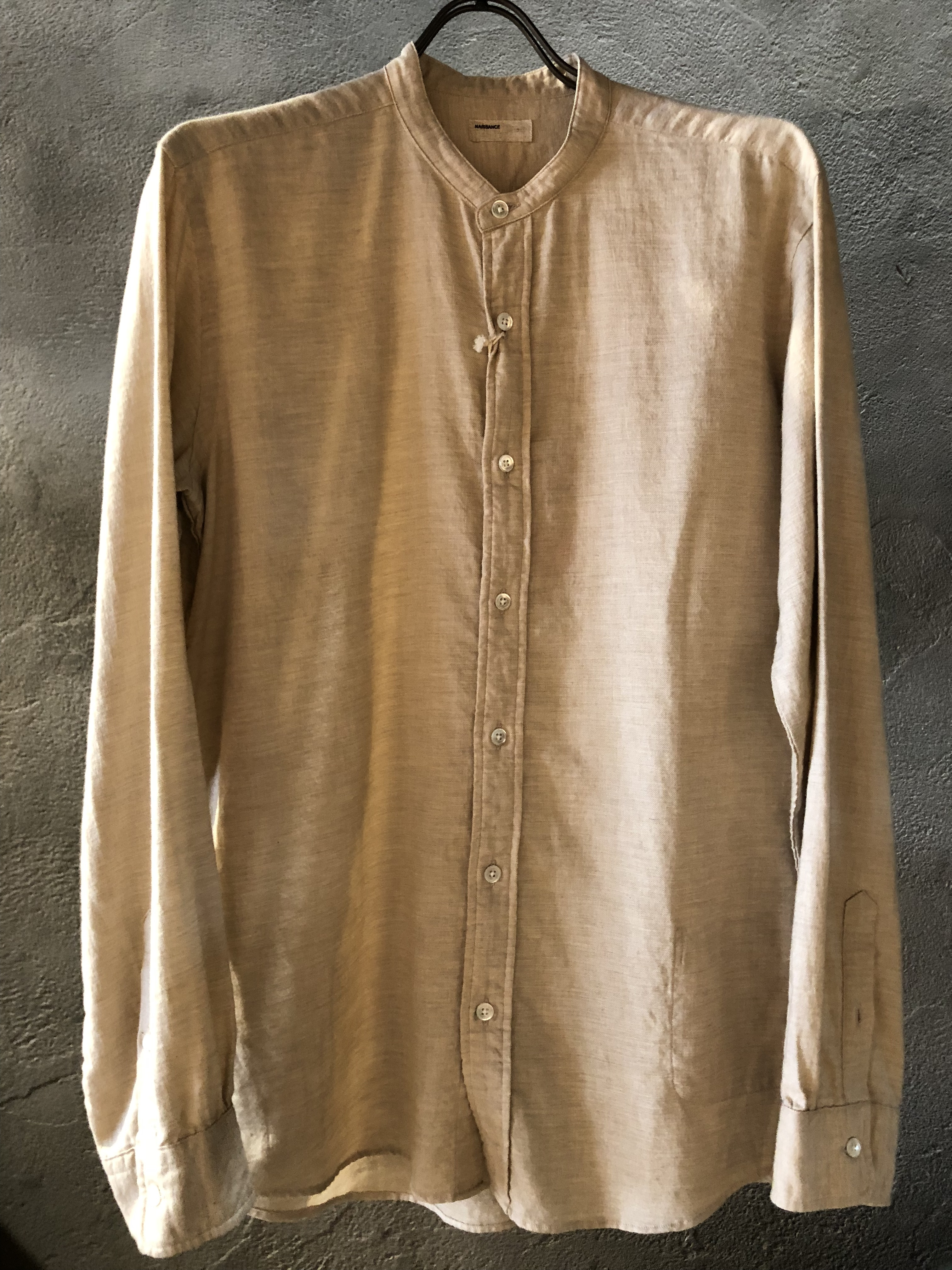 NAS 16 A SH 07 BAND COLLAR SHIRT