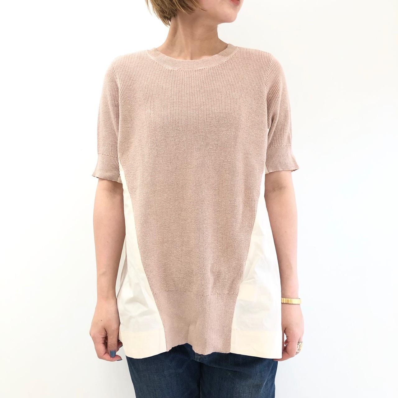 【 ROSIEE 】- 311201 - ニット切り替えTeeシャツ