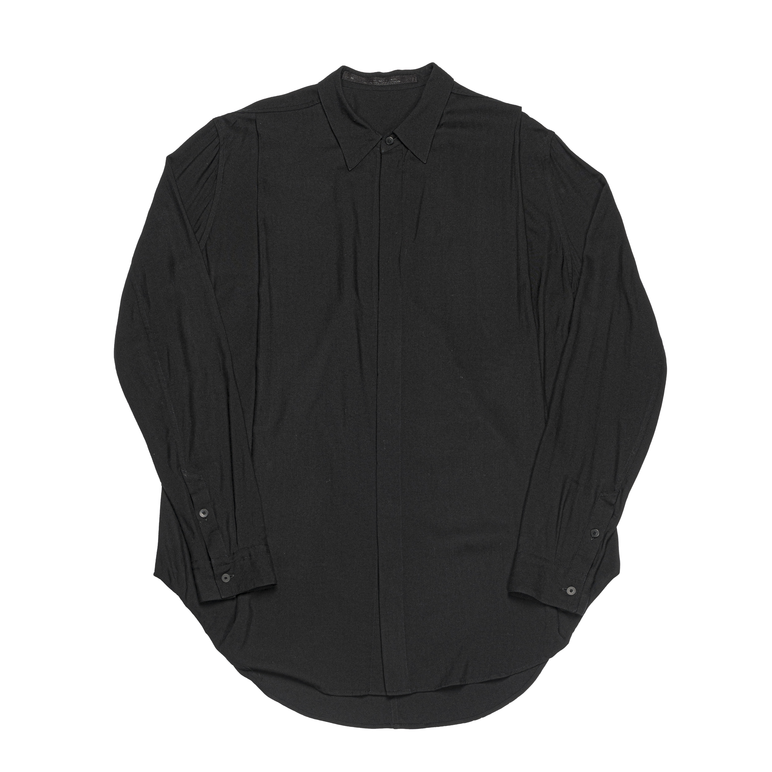 667SHM1-BLACK / タックドシャツ