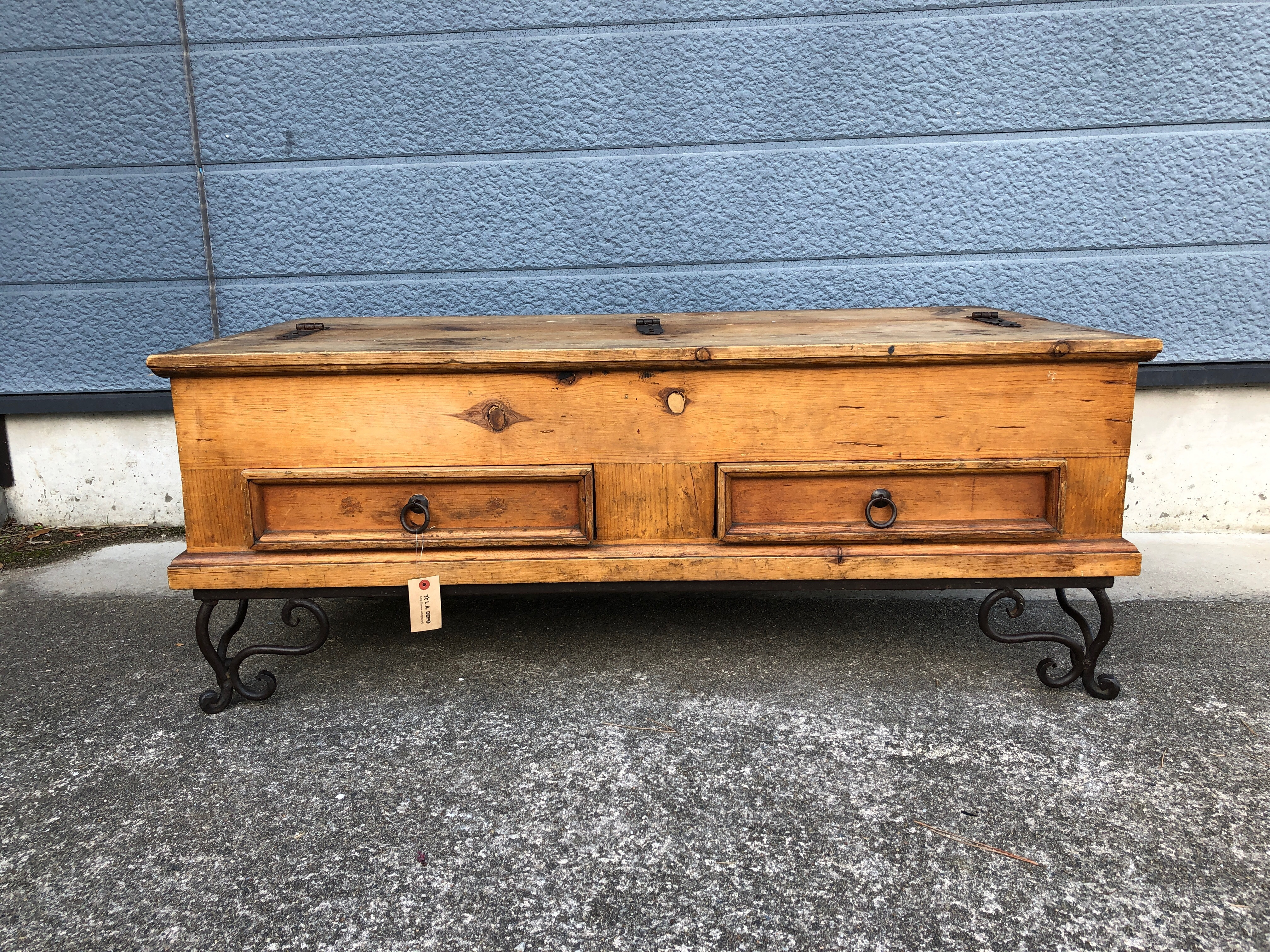 品番5001 収納テーブル 木製 リビングボード アンティーク