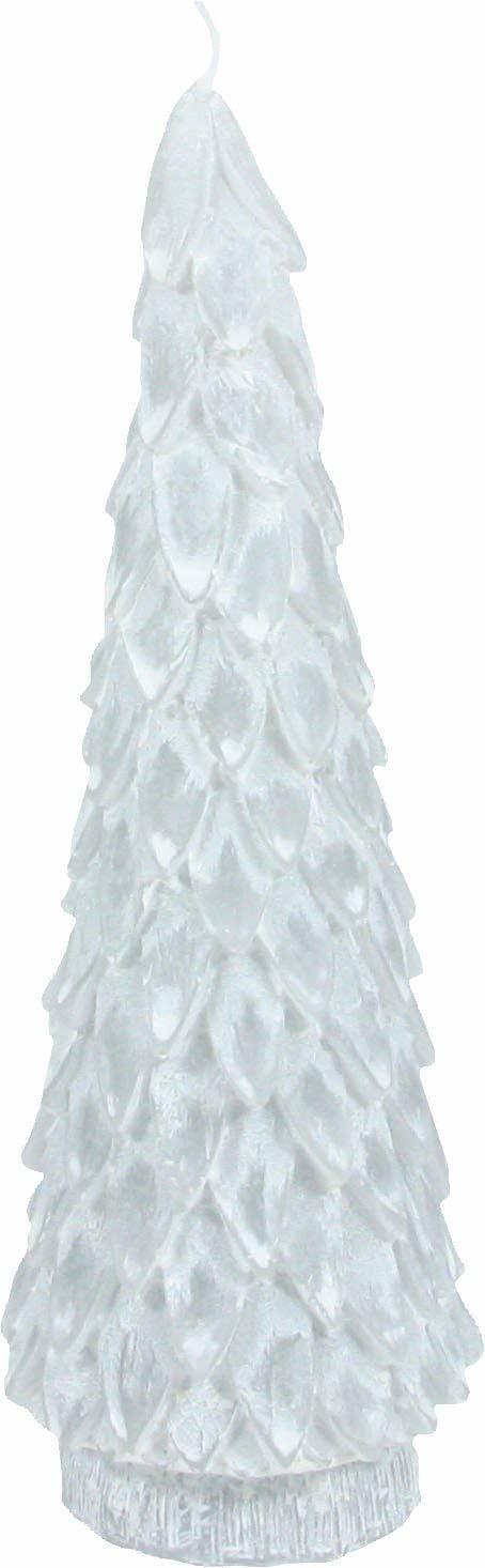 クリスマス  ツリー キャンドル(ホワイト)