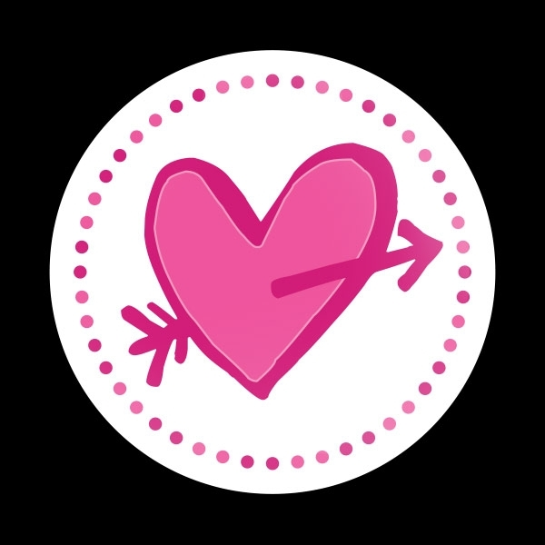ゴーバッジ(ドーム)(CD0905 - Seasonal CUPID HEART) - 画像1