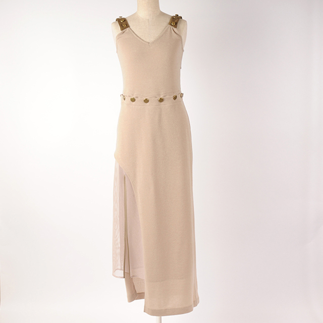 hs18AW-IR14 SLIT LONG BUTTON OP (beige)