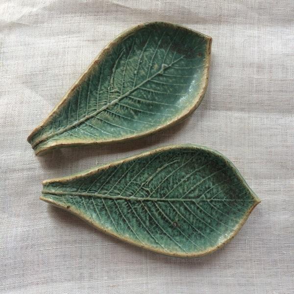 葉っぱのお皿 ターコイズ