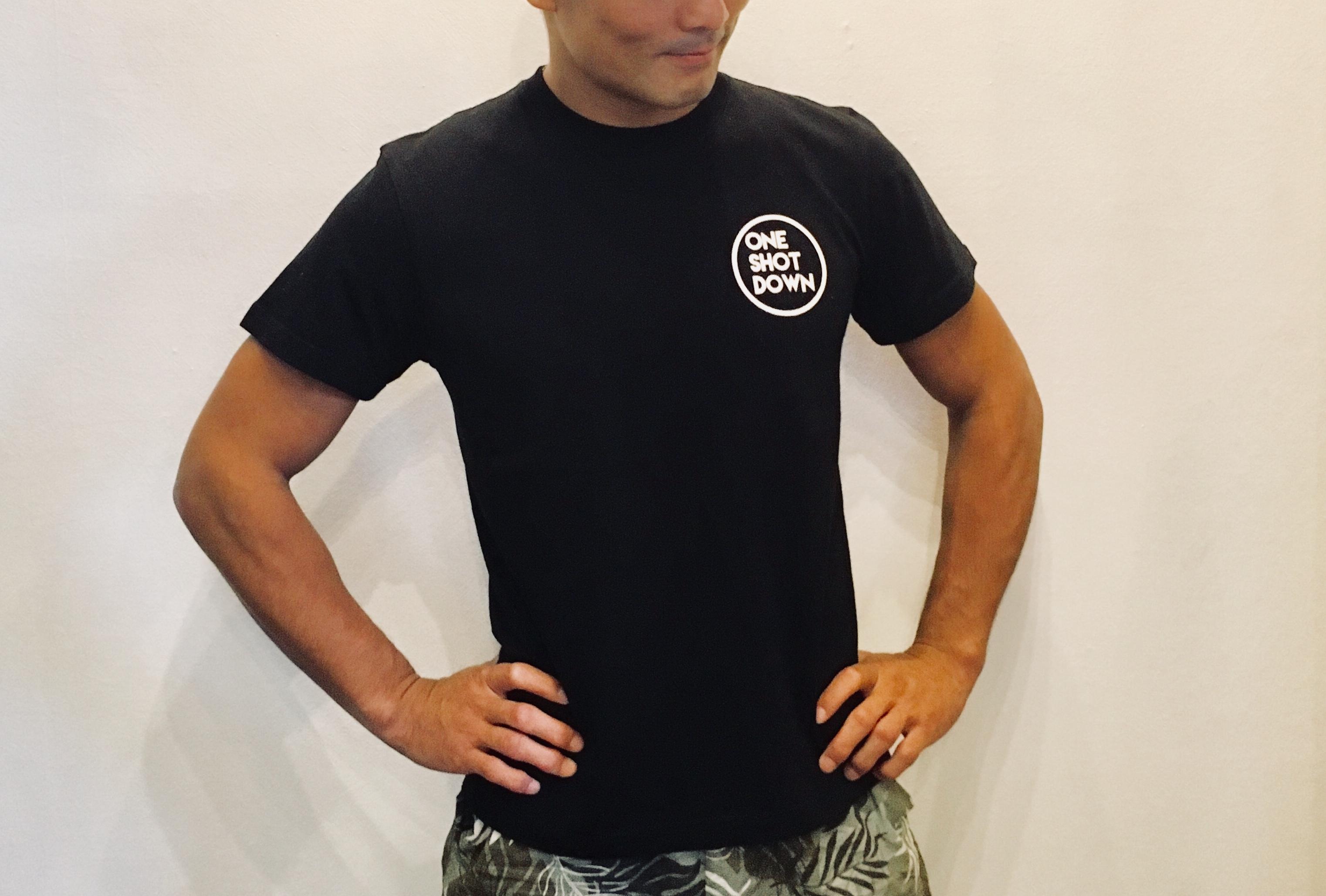 ONESHOTDOWN サークルロゴ Tシャツ - 画像2