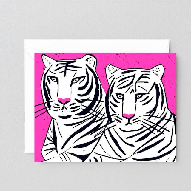 WRAP / TIGER GREETING CARD -Illustrated by Sandi Falconer- アートカード