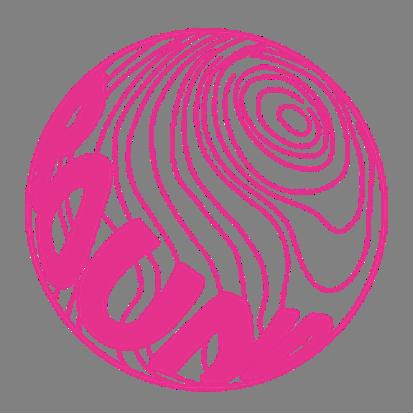 球体ロゴステッカー直径10cm【ピンク】