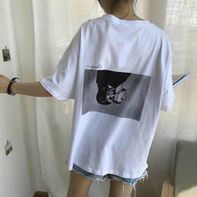 【tops】シンプル原宿風BF風ゆったり感ファッションTシャツ18122329