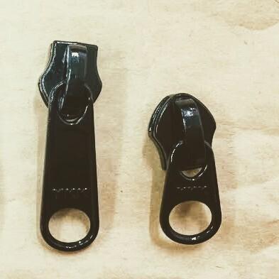 YKK スライダー 5c DFW(短)/ DFL(長) 表使い  黒/カラー つやあり 1個