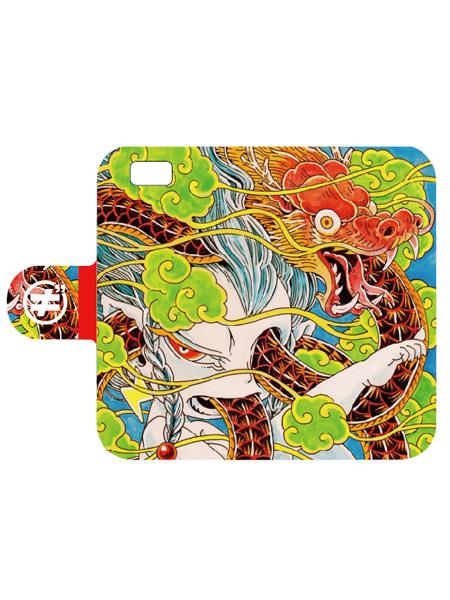 【ササキエリンギ】手帳型スマホケース[龍の話]