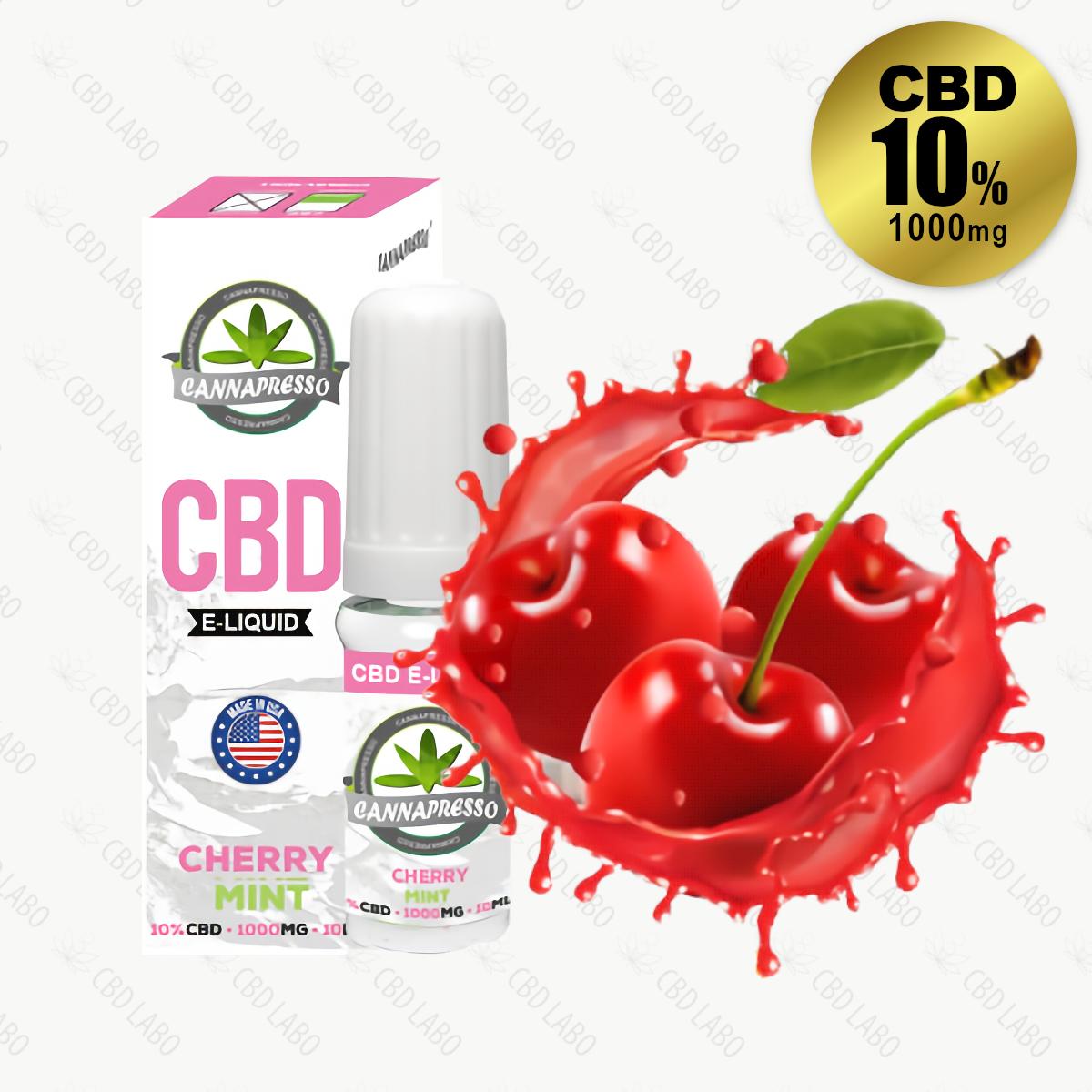 【送料無料】CANNAPRESSO CBDリキッド チェリーミント 10ml CBD含有量1,000mg (10%)