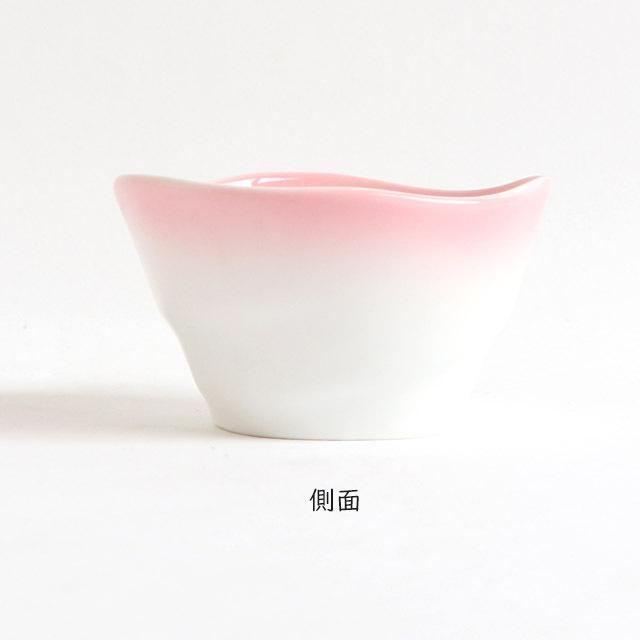 【2959-2720】ろくべい小鉢(口径9.0×高さ5.2cm) ぼかしピンク