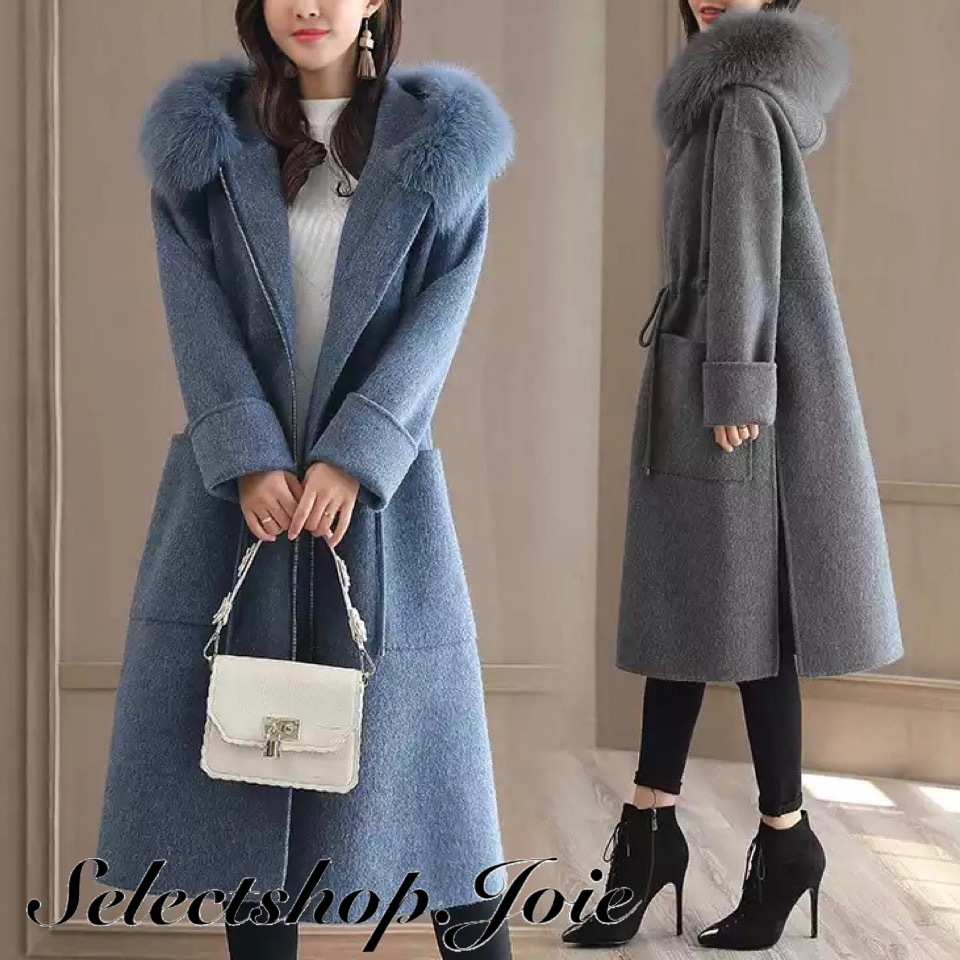 【Blue Lサイズ即発送】ロングウールコート 2色展開