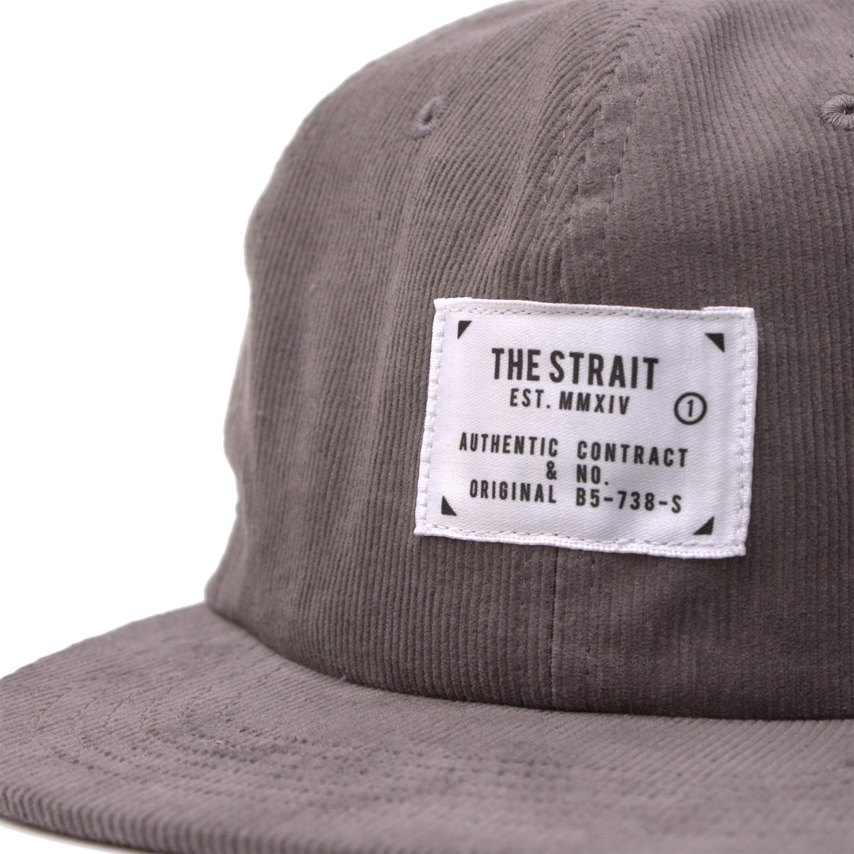CORDUROY 6PANEL TAG CAP #BLACK