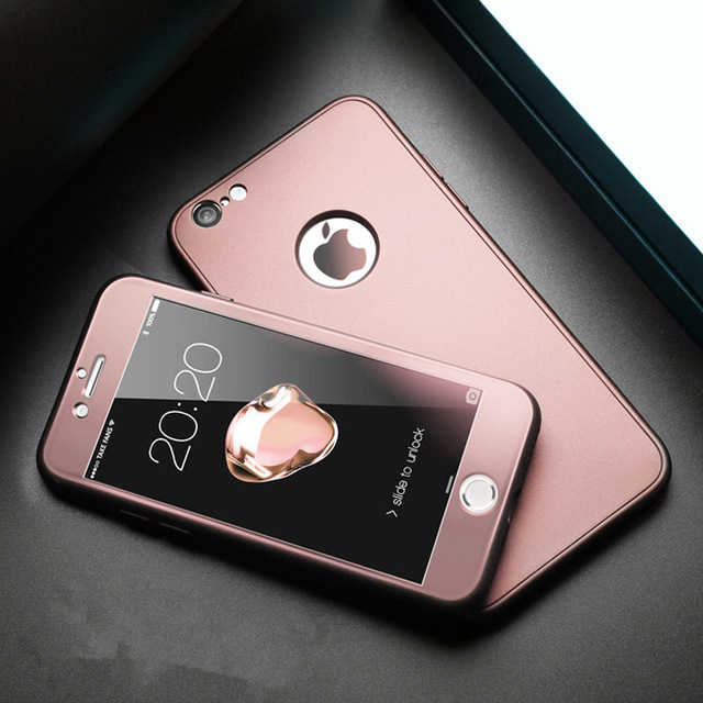 9439799d15 iPhone ケース 360° フルカバー ケース 衝撃吸収 全面保護 強化ガラスフィルム 衝撃防止 おしゃれ 高級感 薄型  6/6plus/7/7plus