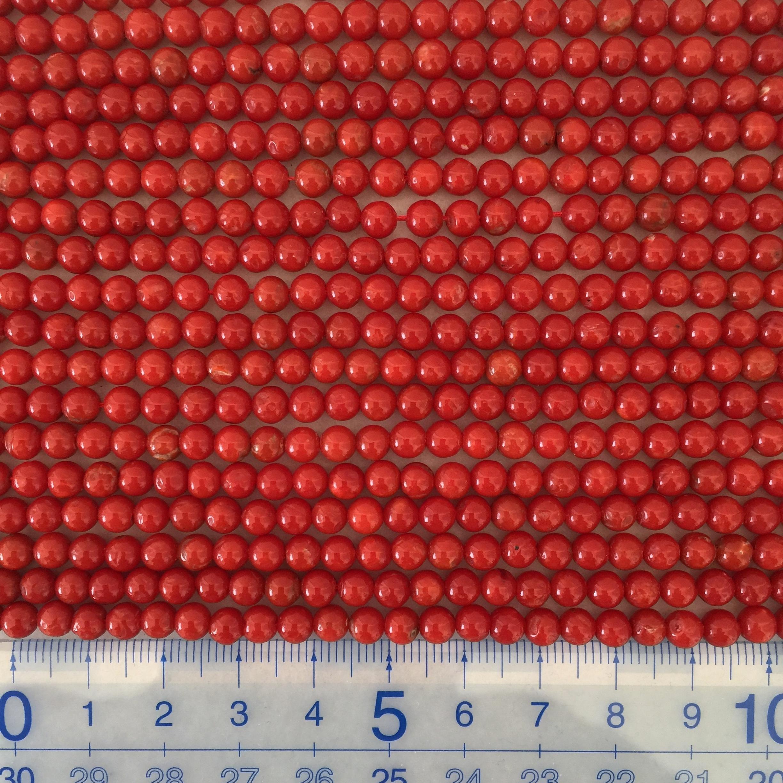 胡渡サンゴ  約4.5~5㎜ 連材【195212】