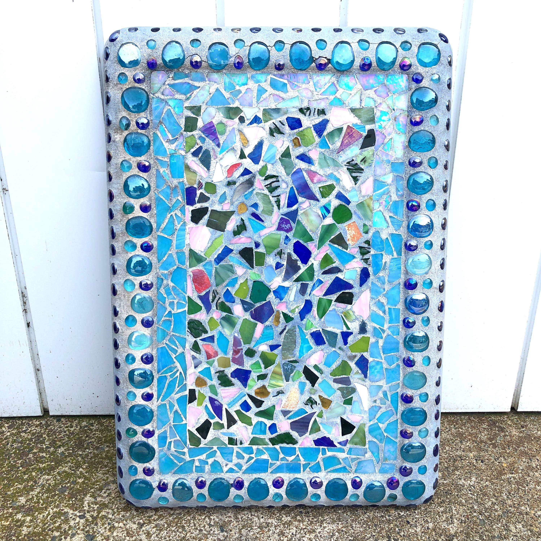 品番1063 ガラスタイル アート ブルータイル アソートカラー モザイクタイル 装飾ボード ヴィンテージ 011
