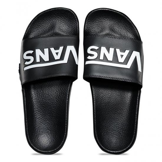 VANS (バンズ) ロゴ バイカラー シャワーサンダル Slide-On