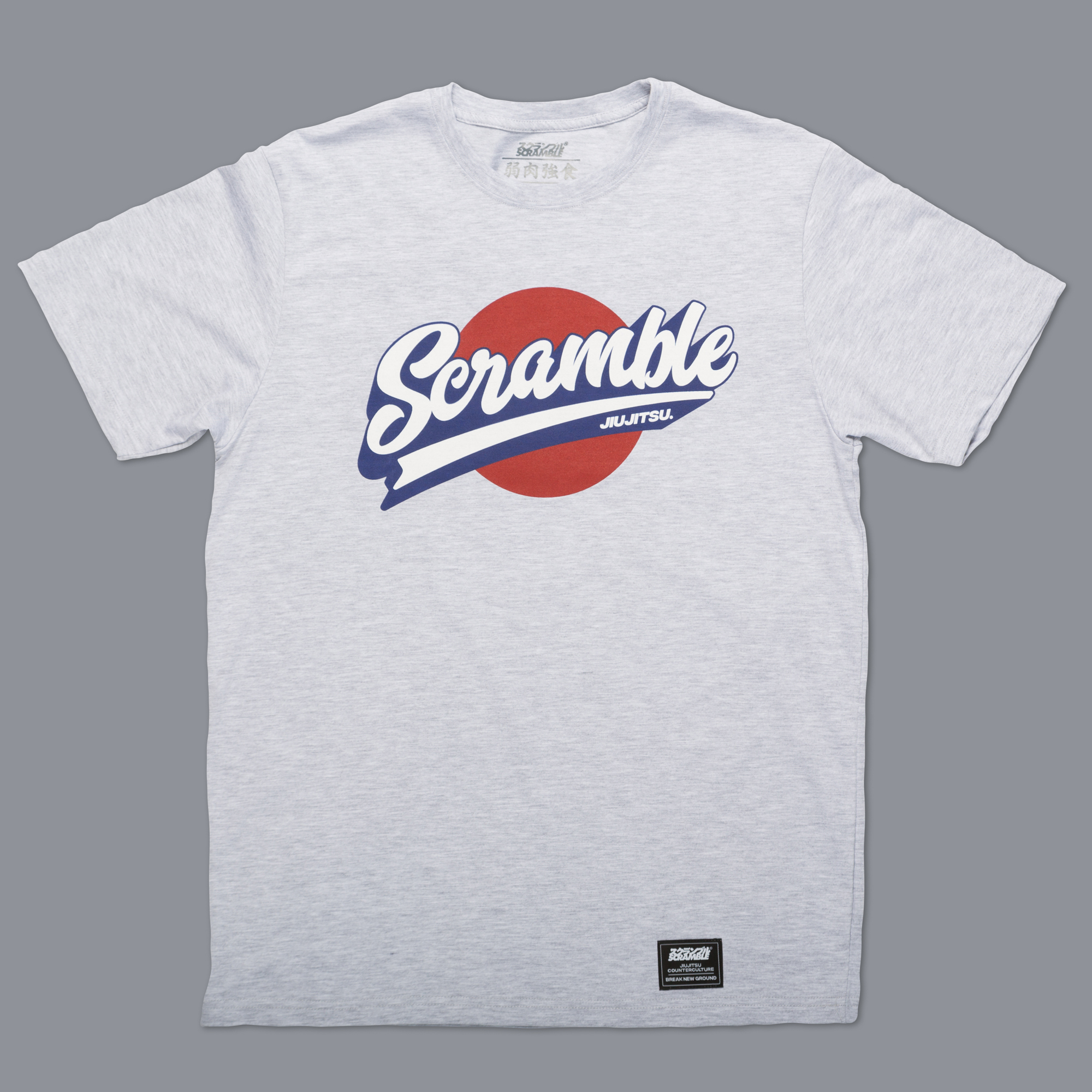 Scramble Sport Logo Tee - Grey|格闘技、柔術Tシャツ