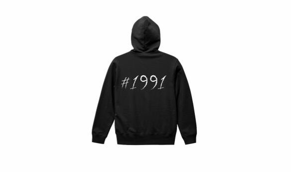 1991 big logo hoodie (bk/wh)