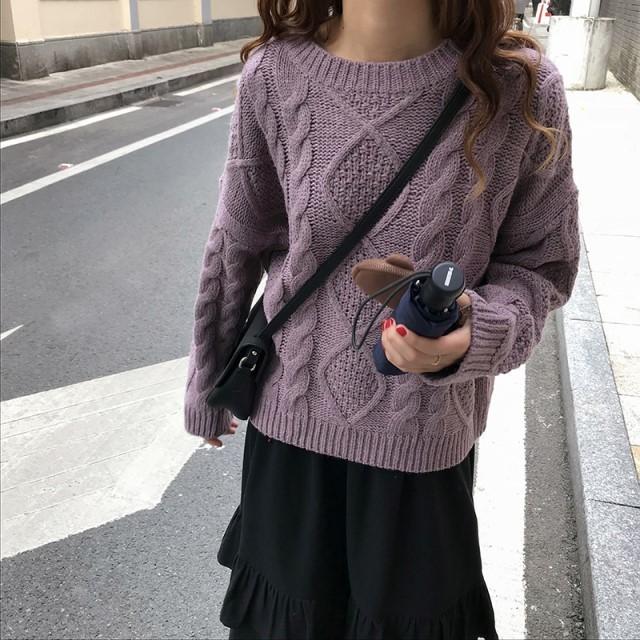 おすすめ NEW ざっくり ニット ケーブル編み ケーブル セーター ゆったり トップス トレンド カジュアル オフィス 女子会  デート